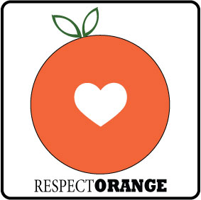 Respect Orange Car Sticker