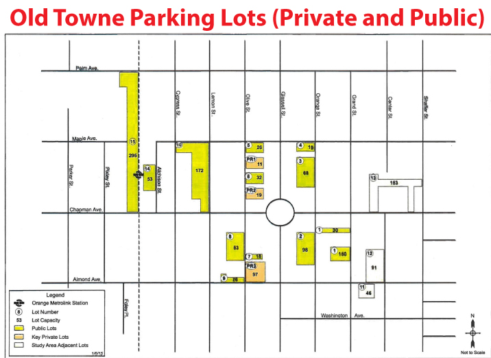 Old Towne Orange Private and Public Parking Lots